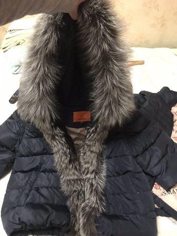 куртка пуховик чернобурка