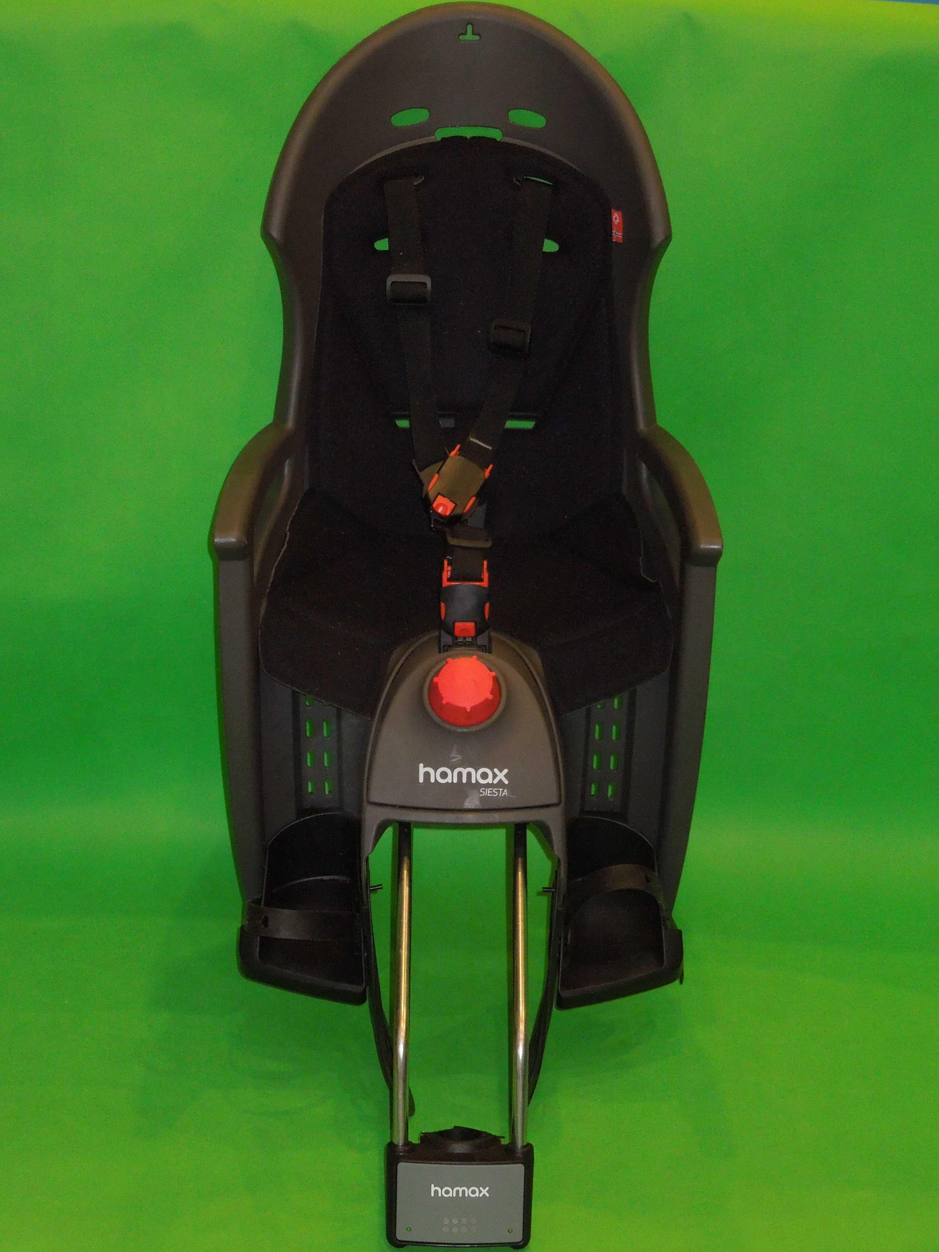 ODCHYLANY regulowany fotelik rowerowy HAMAX SIESTA – super stan!