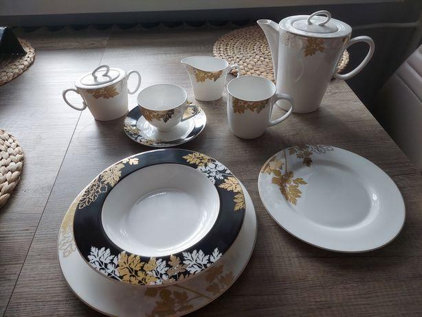 Serwis obiadowo kawowy/zastawa stołowa 12 os NOWY porcelana ALMI DECOR