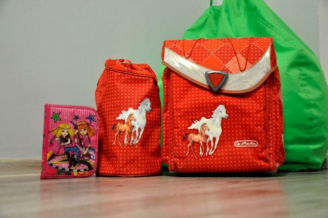 Рюкзак для начальных классов herlitz, сумка для обуви, пенал