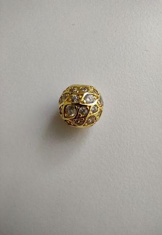 Charms zawieszka złota cyrkonie do Pandora srebro 925