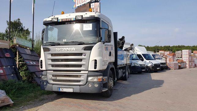 Scania R380 z HDS Fassi, 2006 r, przebieg 770 tys. km.
