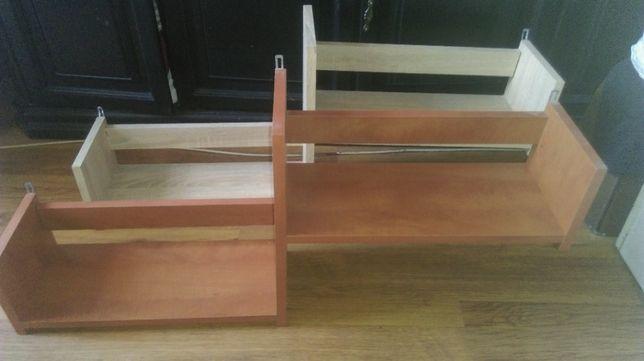 półki wiszące drewniane sztuk 2