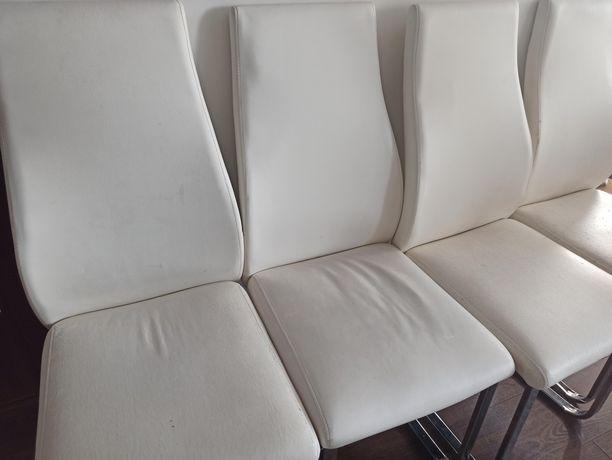 Krzesła Passio eko skóra Agata Meble 4 szt