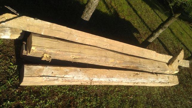 Drewno Belki stropowe duże opał
