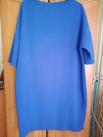 Sukienka niebieska szafir r. 50