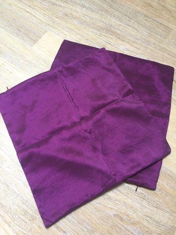 Capas de almofadas decorativas em tecido acetinadas