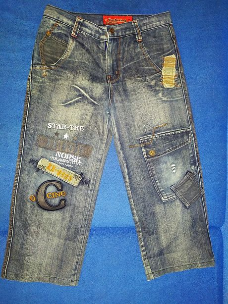 Детские джинсы бриджи шорты КУЗИ KUZHIXING