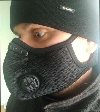 Черная защитная маска. Веломаска от Рокброс + фильтр в подарок