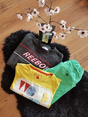 Cudny zestaw:) bluza REEBOK spodnie H&M t-shirt TU roz 134
