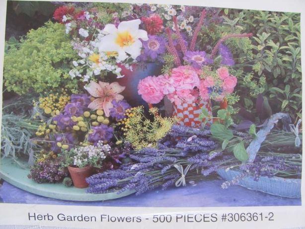Puzzle JIGSAW 500 el. Herb Garden Flowers bez pudełka