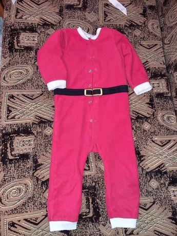 Новогодний комбинезон  новорічний ромпер костюм санти