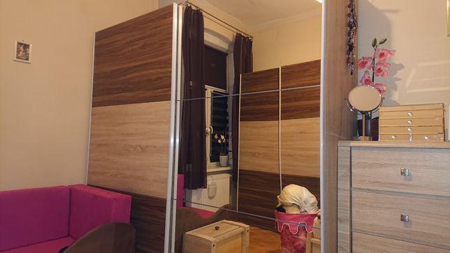 Szafa z lustrem drzwi przesuwne BRW 220 cm