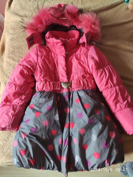 Зимнее пальто детское 104 110