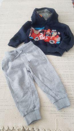 Spodnie j nowe dresowe NUTMEG 12 18 m-cy 86 gratis bluza Next nr60