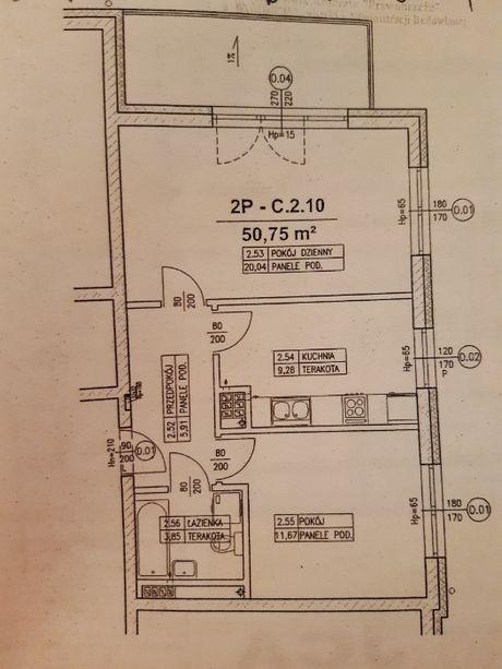 Mieszkanie 2 pokoje Szczecin - Kijewo 2 piętro, winda.