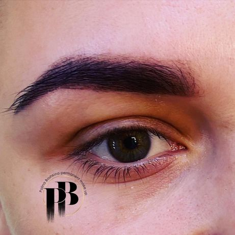 Скидка на Перманентный макияж бровей губ межресичка