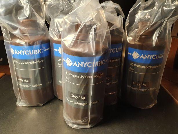 Anycubic Серая Фотополимерная смола Аникубик для 3D Принтера 1 кг Grey