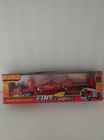 Straż pożarna laweta - autka metalowe