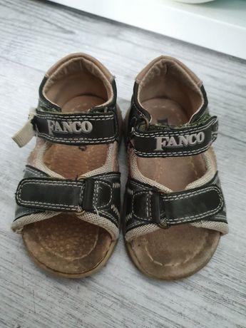 Sandały chłopięce skórzane