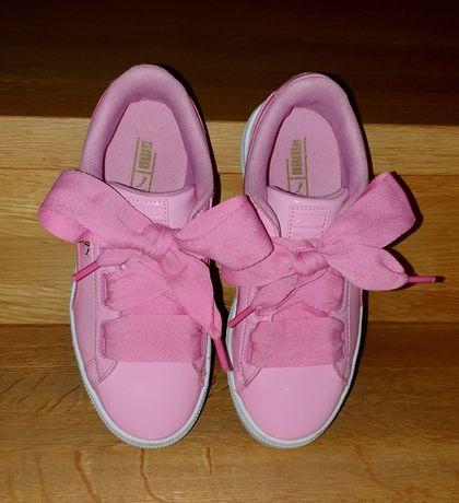 Adidasy PUMA BASKET Różowe Sznurówki Wstążki roz.35 22cm STAN IDEALN