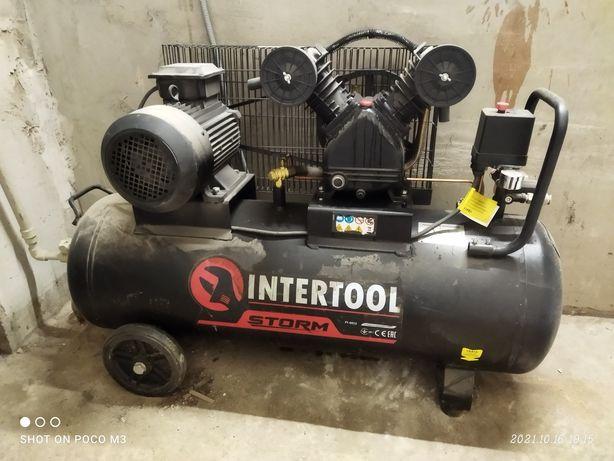 Воздушный компрессор Intertool PT-0013 100Литров