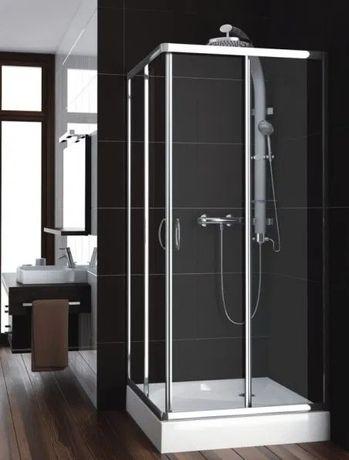 Wyprzedaż kabin prysznicowych Aquaform sanita eco 90hartowane szkło