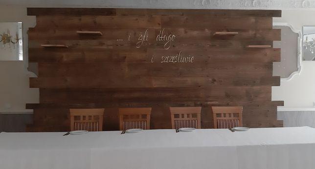 Ścianka Weselna Rustykalna