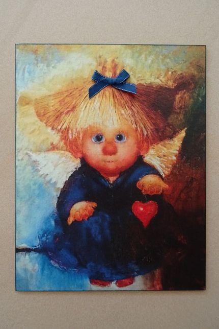 Obrazek na ścianę z aniołkiem