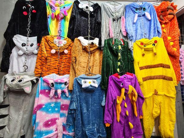 кигуруми пижама стич пикачу искорка кот чи хаски единорог звёздный