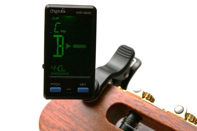 Tuner chromatyczny - stroik elektroniczy gitara, bas, ukulele, NOWY!!!