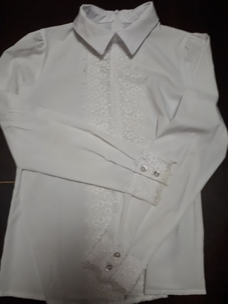 Школьная блузка!!!Colaber!!!138-142р!!!