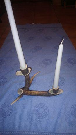 Róg świecznik z rogu niepowtarzalny