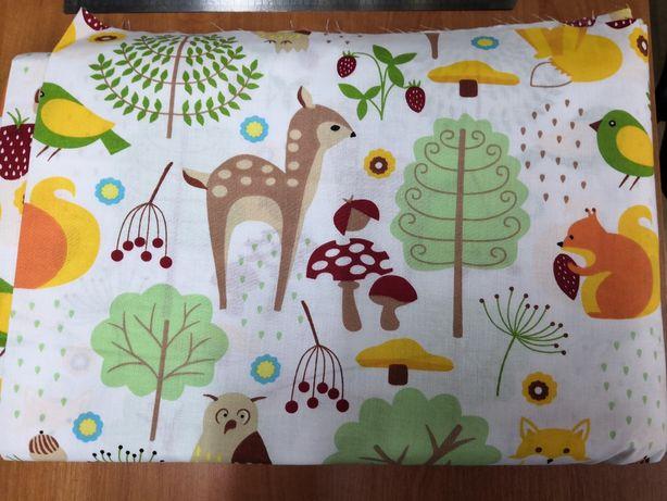 Тнань хлопковая Лесная поляна, тканина бавовна