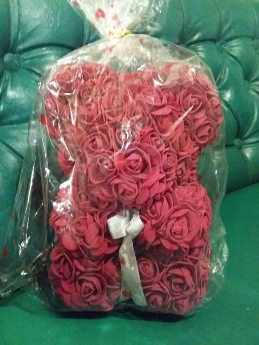 Продам мишку Teddy из 3D роз (25 см.). Прилиманское - изображение 1