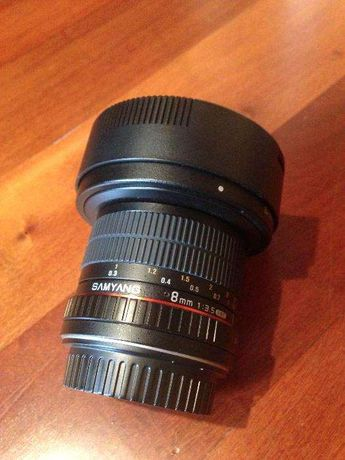 Samyang 8mm f/3.5 AE Fish-Eye CSII para Canon
