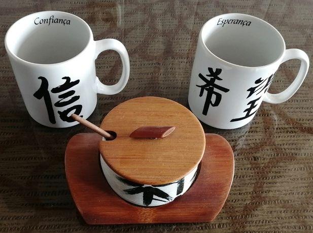 conjunto pequeno almoço japones