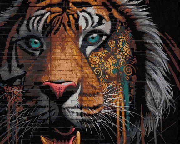 Картина по номерам. 40*50 см. Тигр.