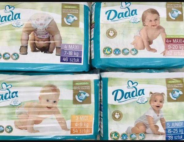 Гурт опт Памперси Dada extra soft підгузники Дада