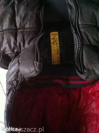Chłopięca kurtka zimowa, pikowana ZARA r. 110, 4-5 lat, brąz