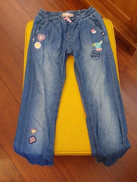 Spodnie Smyk cienki jeans rozm 146