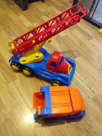 Wóz strażacki wywrotka smieciarka