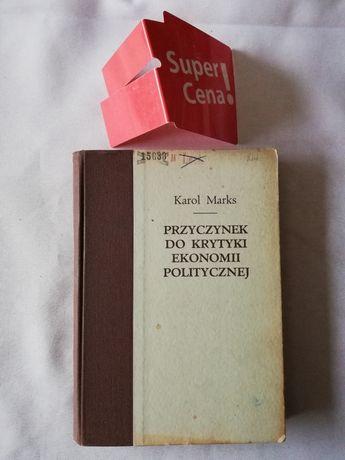 """książka """"przyczynek do krytyki ekonomii politycznej"""" Karol Marks"""