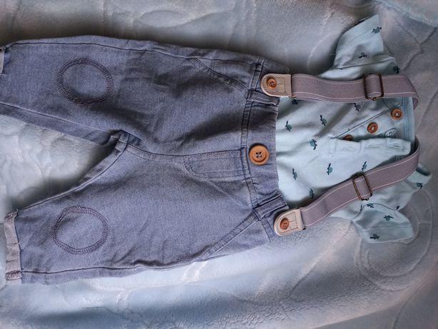 Spodnie z szelkam i body