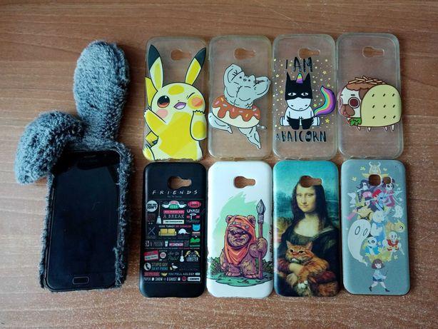 Samsung Galaxy A5 (2017) + 9x case (Star Wars, Pokémon, Friends +inne)