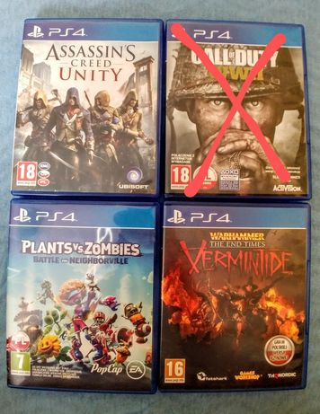 Gry PS4 Call of Duty | Assasins Creed | Plants vs Zombies | Warhammer
