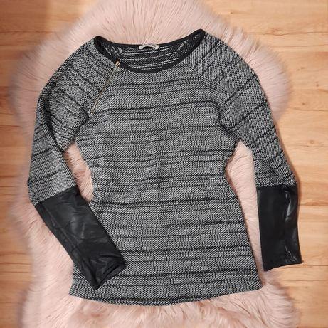 Sweter roz s skórka