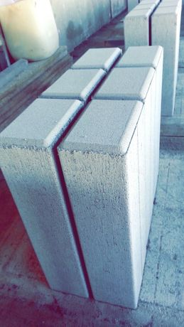 Palisada betonowa prostokątna 14/9cm  . Wysokość 30cm 7sztuk/mb