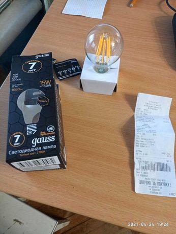 Лампочка gauss 15w LED графеновая 2700К на гарантии
