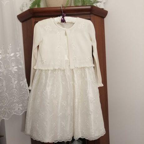 Sukienka biała firmy amerykańskiej American Princess rozmiar 10